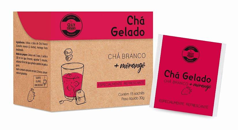 Chá Gelado Chá Branco + Morango