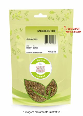 Pacote Sabugueiro Flor Qly Ervas 30g