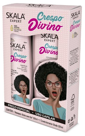 Kit Shampoo + Condicionador Skala Crespo Divino 325mL (Vegano)