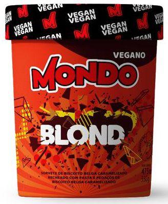Sorvete Mondo Blond 330g pote (massa)