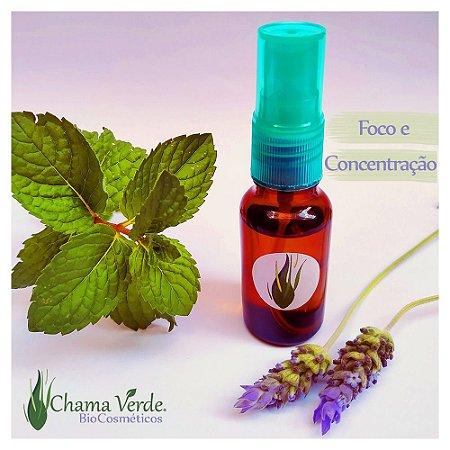 Perfume Vegano Natural Artesanal Floral Spray Foco e Concentração 20ml Chama Verde BioCosmética Nutritiva