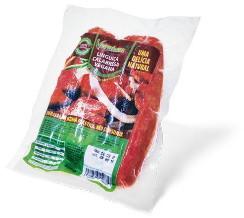 Linguiça Calabresa de soja Vegabom 400g (Congelado)
