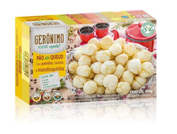 Pão sem queijo Gerônimo 400g (Congelado) Embalagem com 16 unidades