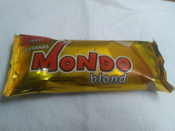 Sorvete Vegano Mondo 70g Blond (Biscoito Belga)