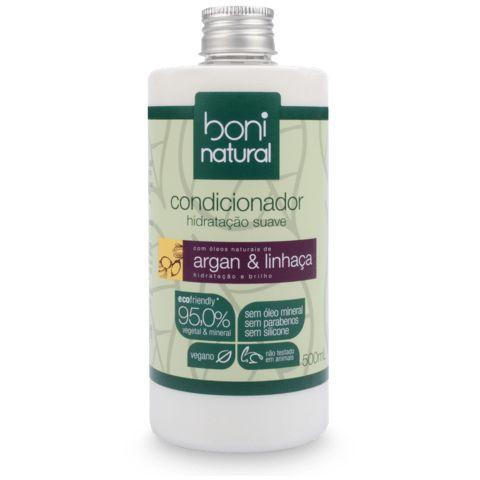 Condicionador Boni Natural vegano, argan e linhaça 500ml