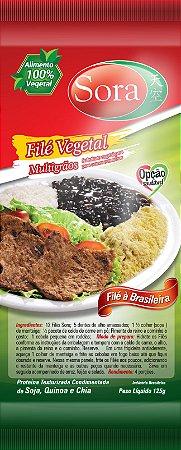 Proteína texturizada condimentada sabor carne vermelha. 125g (Filé)