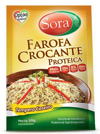 Farofa crocante proteica Temepro caseiro Sora 300g
