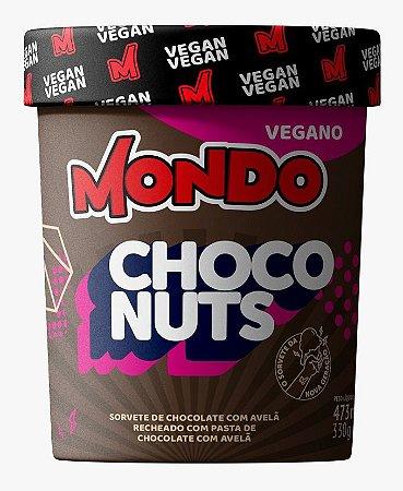 Sorvete vegano Mondo Choconuts 473ml Chocolate com Avelã