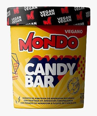 Sorvete Vegano mondo CandyBar 473ml 330g Amendoim