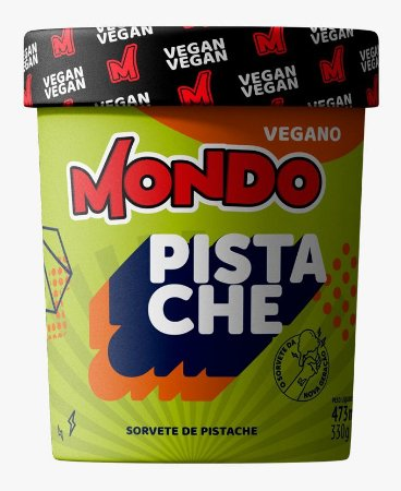 Sorvete Vegano mondo Pistache 473ml 330g