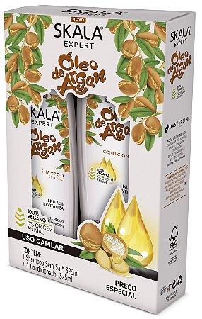 Kit Shampoo 325ml + condicionador 325ml Óleo de Argan Skala (vegano)