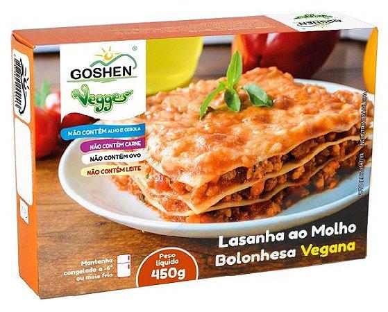 Lasanha vegana ao molho Bolonhesa 450g Goshen (congelado)