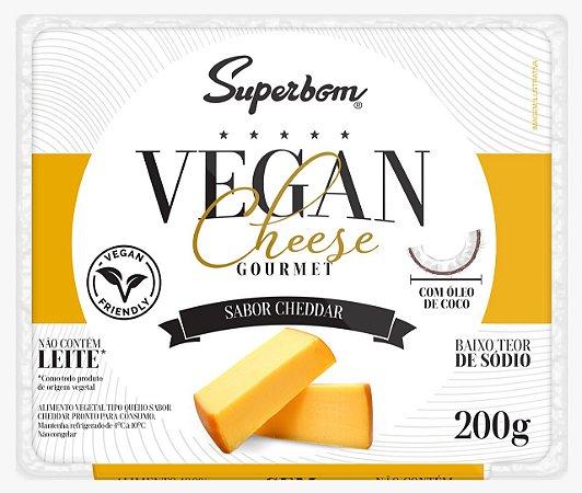 Queijo vegano tipo Cheddar Superbom Gourmet 200g
