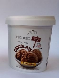 Sorvete de chocolate Yam 470g