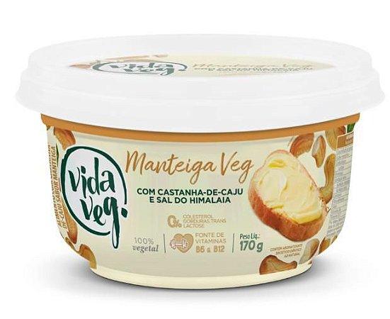 Manteiga vegetal com castanha de caju e saldo Himalaia Vidaveg 170g
