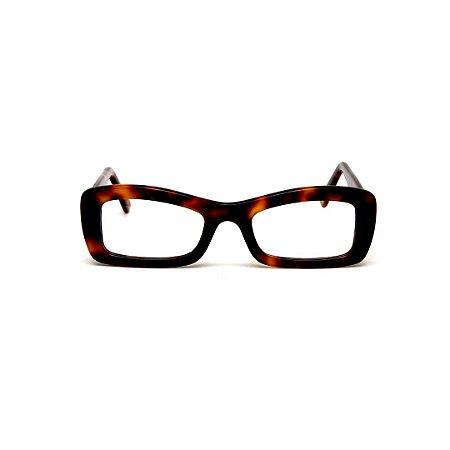 Armação para óculos de Grau Gustavo Eyewear G34 1. Cor: Animal print. Haste animal print.
