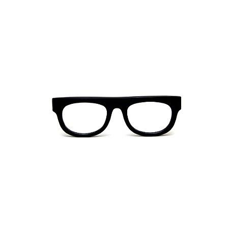 Armação para óculos de Grau Gustavo Eyewear G14 8. Cor: Preto. Haste animal print.