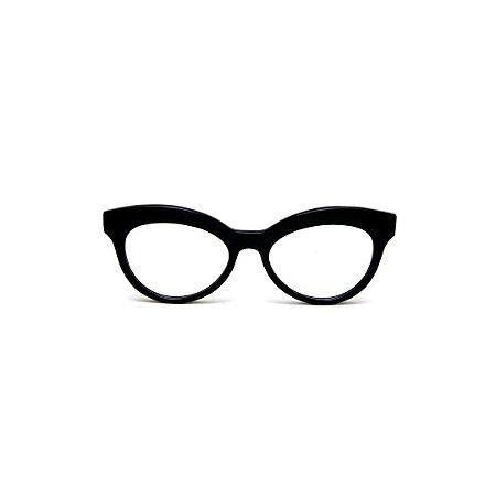 Armação para óculos de Grau Gustavo Eyewear G38 7. Cor: Preto. Haste preta.