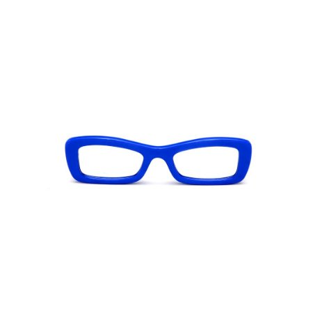 Armação para óculos de Grau Gustavo Eyewear G34 3. Cor: Azul opaco. Haste preta.
