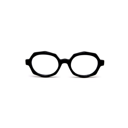 Armação para óculos de Grau Gustavo Eyewear G121 9. Cor: Preto. Haste preta.