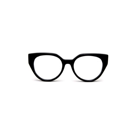 Armação para óculos de Grau Gustavo Eyewear G117 8. Cor: Preto. Haste preta.
