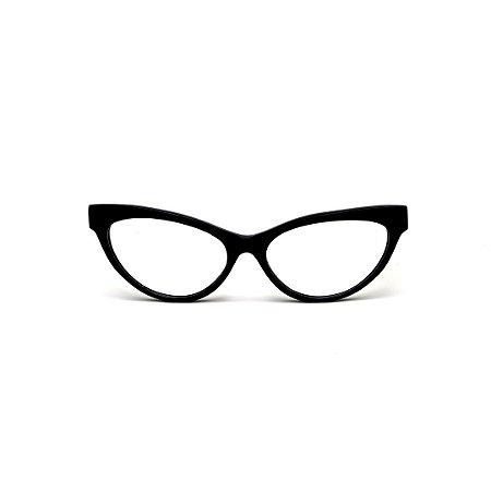 Armação para óculos de Grau Gustavo Eyewear G129 6. Cor: Preto. Haste preta.