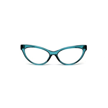 Armação para óculos de Grau Gustavo Eyewear G129 9. Cor: Verde translúcido. Haste preta.
