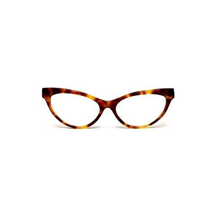 Armação para óculos de Grau Gustavo Eyewear G129 10. Cor: Animal Print. Haste animal print.