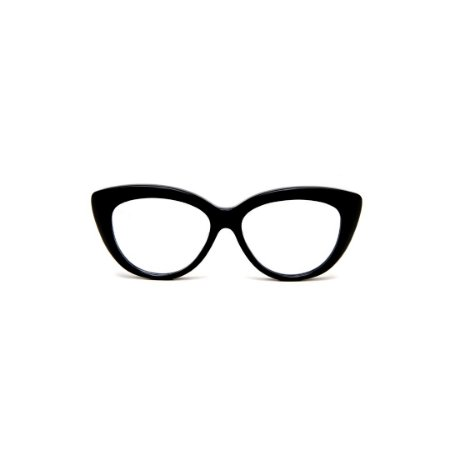 Armação para óculos de Grau Gustavo Eyewear G107 3. Cor: Preto. Haste preta.