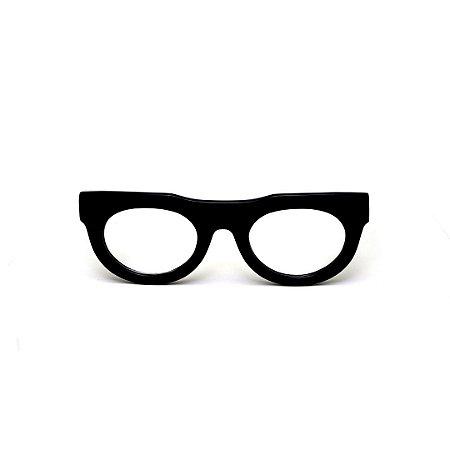 Armação para óculos de Grau Gustavo Eyewear G120 2. Cor: Preto. Haste preta..