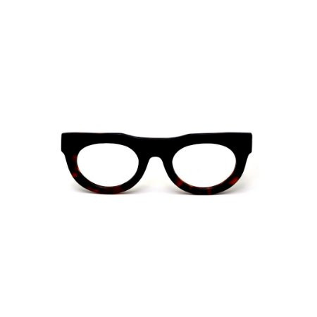 Armação para óculos de Grau Gustavo Eyewear G120 14. Cor: Preto e animal print. Haste preta.