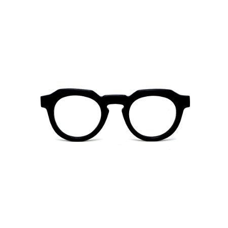Armação para óculos de Grau Gustavo Eyewear G66 5. Cor: Preto. Haste preta.