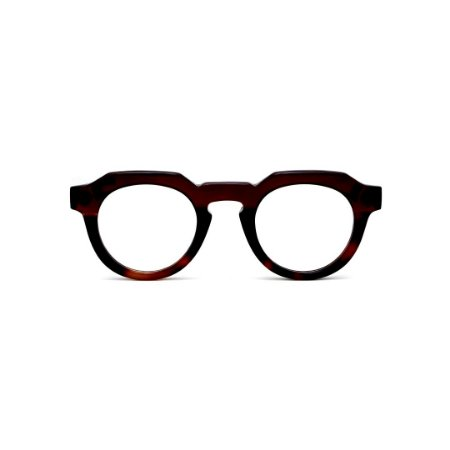 Armação para óculos de Grau Gustavo Eyewear G66 9. Cor: Marrom e animal print. Haste marrom.