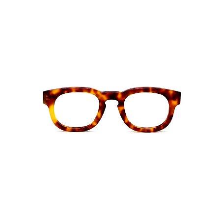Armação para óculos de Grau Gustavo Eyewear G41 4. Cor: Animal print. Haste animal print.