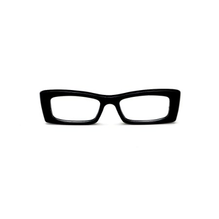 Armação para óculos de Grau Gustavo Eyewear G35 7. Cor: Preto. Haste preta.
