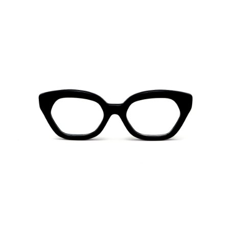 Armação para óculos de Grau Gustavo Eyewear G70 5. Cor: Preto. Haste preta.