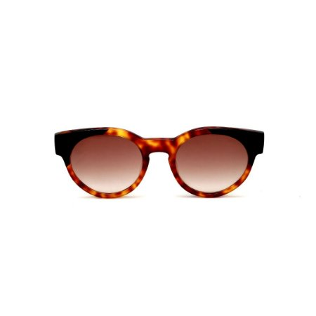 Óculos de Sol Gustavo Eyewear G63 3. Cor: Animal print e preto. Haste preta. Lentes marrom.