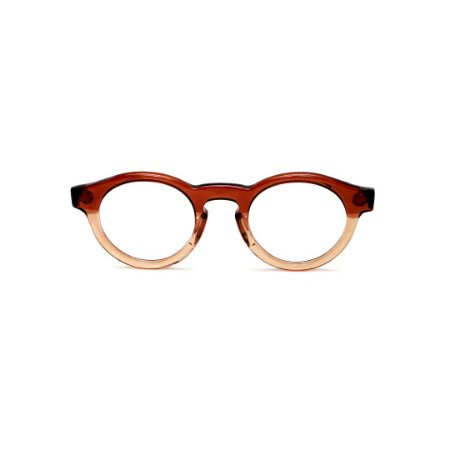 Armação para óculos de Grau Gustavo Eyewear G29 15. Cor: Marrom e âmbar translúcido. Haste animal print.