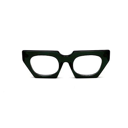 Armação para óculos de Grau Gustavo Eyewear G137 2. Cor: Preto. Haste preta.