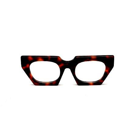 Armação para óculos de Grau Gustavo Eyewear G137 9. Cor: Animal print. Haste animal print.