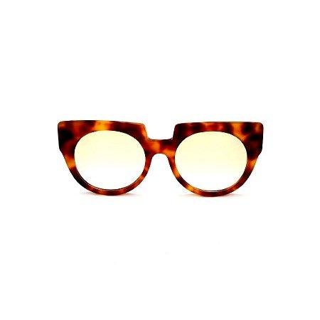 Armação para óculos de Grau Gustavo Eyewear G135 1. Cor: Animal print. Haste animal print.