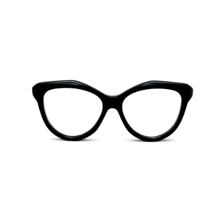 Armação para óculos de Grau Gustavo Eyewear G126 14. Cor: Preto. Haste preta.