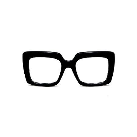 Armação para óculos de Grau Gustavo Eyewear G59 4. Cor: Preto. Haste preta.
