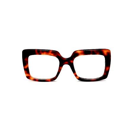 Armação para óculos de Grau Gustavo Eyewear G59 6. Cor: Animal print. Haste animal print.