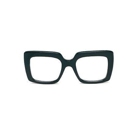 Armação para óculos de Grau Gustavo Eyewear G59 10. Cor: Preto. Haste animal print.