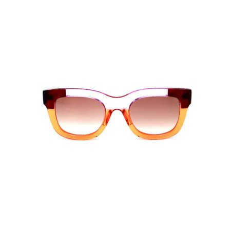 Óculos de Sol Gustavo Eyewear G57 4 Cor: Âmbar, marrom e caramelo translúcido. Haste animal print. Lentes marrom.