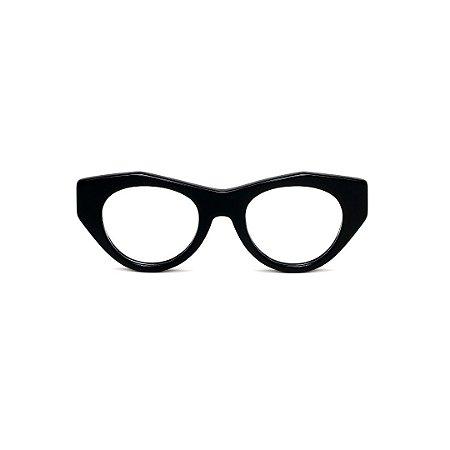 Armação para óculos de Grau Gustavo Eyewear G119 11. Cor: Preto. Haste animal print.