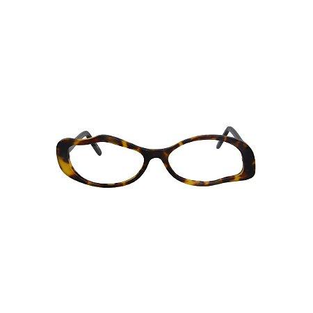 Armação para óculos de Grau Gustavo Eyewear G15 2. Cor: Animal print. Haste animal print.