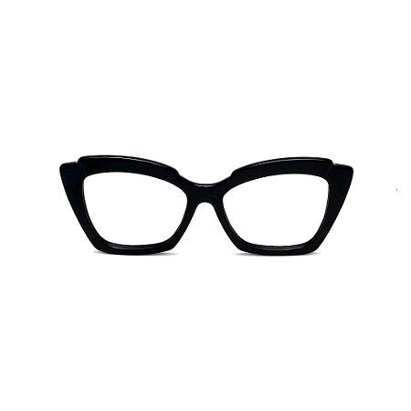 Armação para óculos de Grau Gustavo Eyewear G111 11. Cor: Preto. Haste preta.