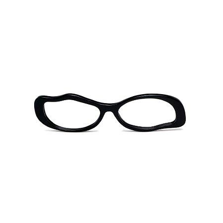 Armação para óculos de Grau Gustavo Eyewear G15 9. Cor: Preto. Haste preta.